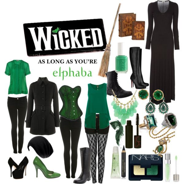 Elphaba - Polyvore... Love, love, love... The shoes, the clothes, my two favourite colours, the book, the musical...