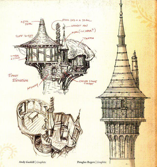 Disney Concept Art. The tower.