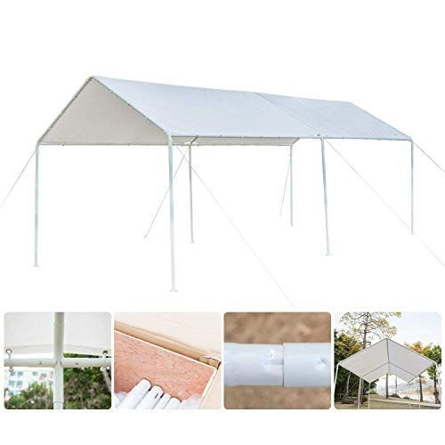 Discounted Quictent 20 X10 Heavy Duty Carport Car Canopy Party Wedding Tent With Waterproof Upgraded Tear Resistance Cover Car Canopy Canopy Portable Gazebo