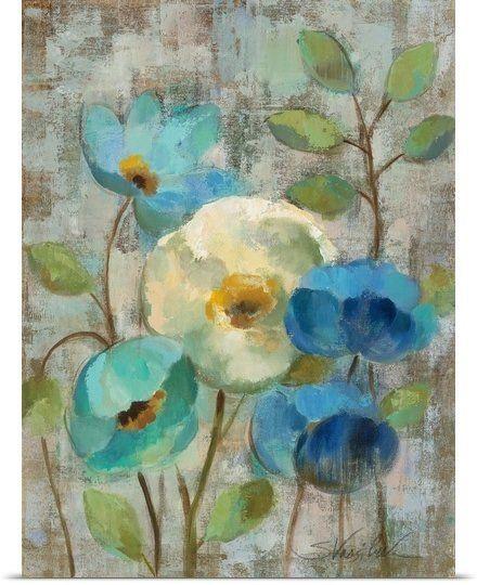 'Pastel Bloom I' by Silvia Vassileva Painting Print