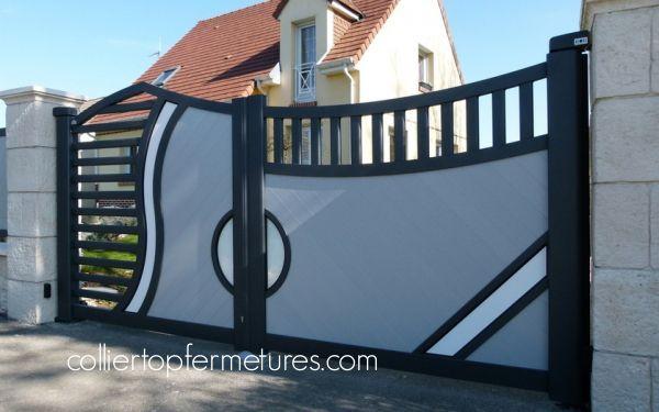 PORTAIL COULISSANT CORAIL Collier top fermetures - installateur portails alu, portes, portes de garage, menuiseries dans la Somme en Picardie