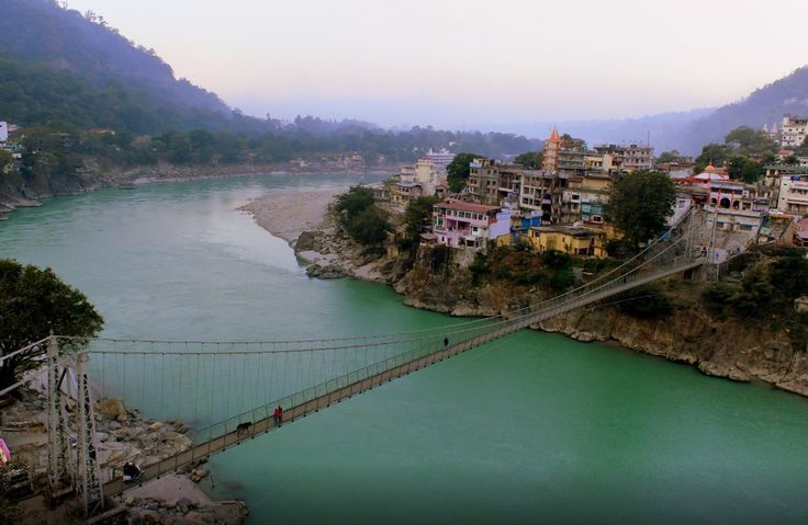 Rishikesh has been a part of the legendary 'Kedarkhand' (the present day Garhwal). Legends state that Lord Rama did penance here for killing Ravana, the asura king of Lanka; and Lakshmana, his younger brother, crossed the river Ganges, at a point, where the present 'Lakshman Jhula' (लक्ष्मण झूला) bridge stands today, using a jute rope bridge.  Photo credit: Arun Karanth #travel #India #travelinginIndia #tourIndia #triptoIndia #travellers #traveling #Rishikesh #Uttarakhand #Himalayas