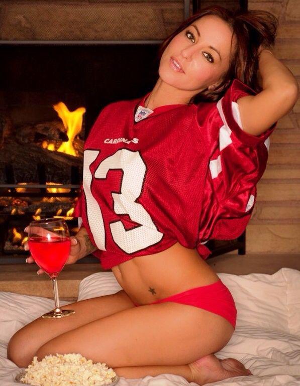 Sexy girls in football jerseys