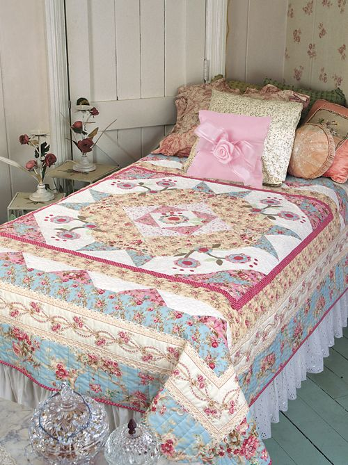 Rose Hill Lane by Diane Nagle (from The Quilter Magazine August/September 2014 issue, on sale now)  www.thequiltermag.com