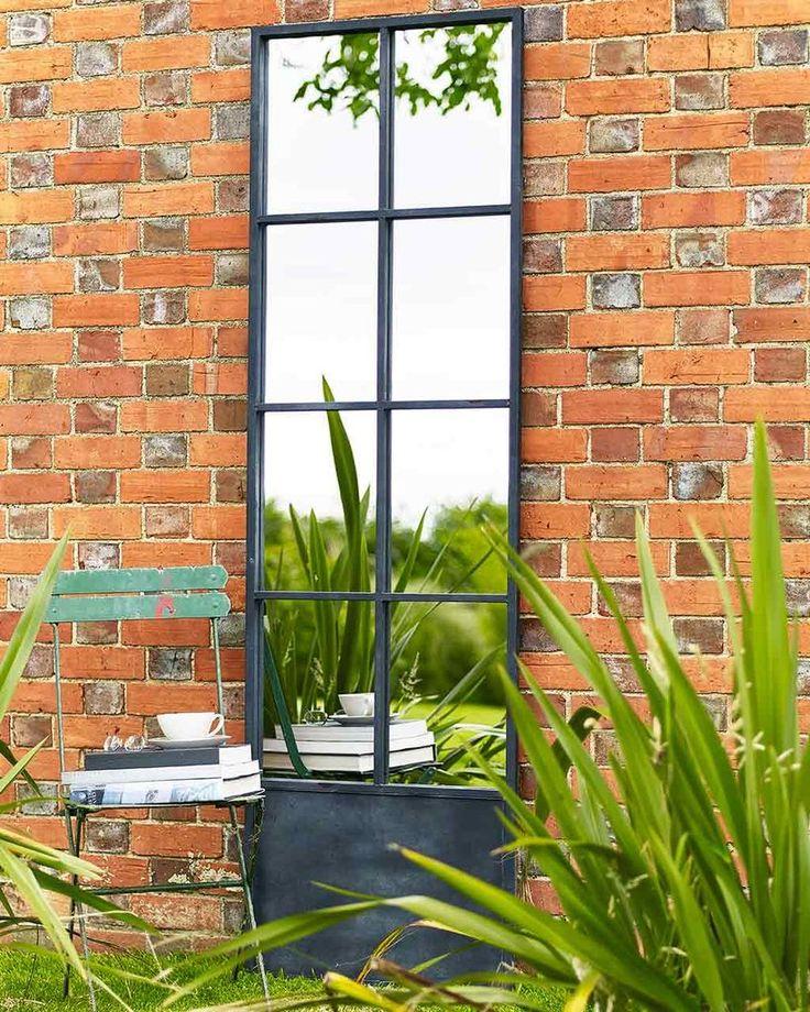 Full Length Paned Door Mirror - Metal Frame | MirrorDeco