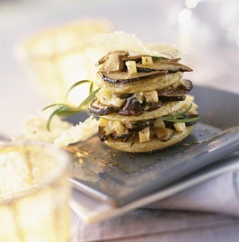 Mille-feuille de cèpes aux artichauts et parmesan - Cuisine - Plurielles.fr