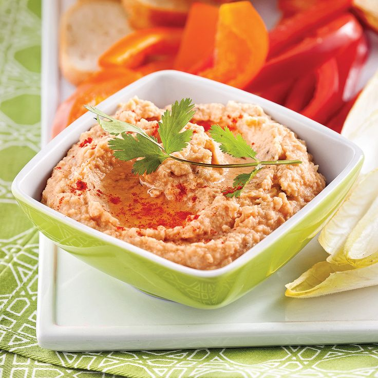 Houmous aux poivrons rôtis - Recettes - Cuisine et nutrition - Pratico Pratique