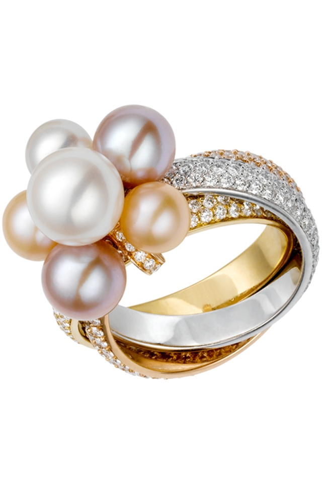 Trinity Ring with Pearls