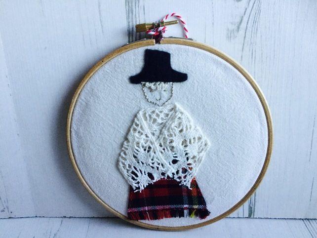 Welsh Lady Hoop Art £12.50