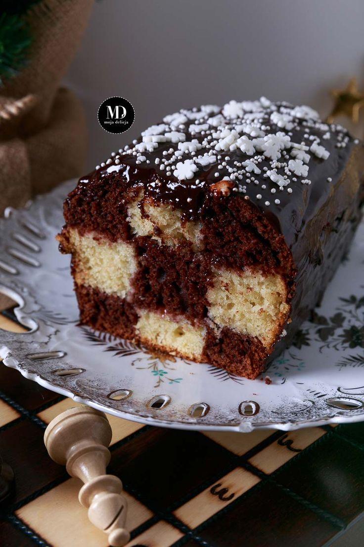BEZ MIKSERA! Ciasto szachownica - ciasto waniliowo-kakaowe // Vanilla and Chocolate Checkerboard Cake   #mojadelicja #cake #delicious #yummy #dessert #xmas #christmas #newyear #food #foodporn #foodphotography #foodphoto #chocolate #vanilla #ciasta