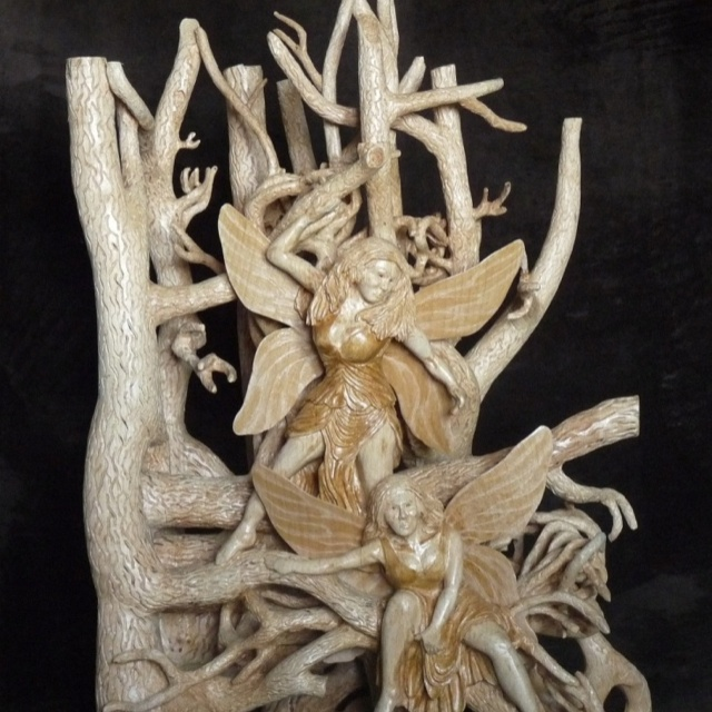 Fairy wood carving: Wonder Wood, Wood Caves, Wood Chisel, Fairies Wood, Wood Carving Turning, Wood Creations, Wood Carvings, Wood Crafts, Medium Wood