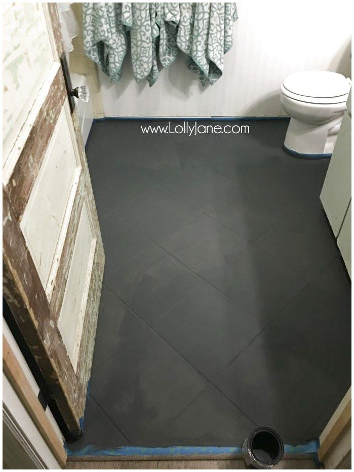 Super Affordable Bathroom Floor Makeover Solution How To Chalk