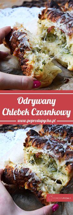 Ten odrywany chlebek naprawdę jest nieziemsko smaczny! :) Nie miałam dzisiaj pieczywa, mogłabym upiec zwykły chleb lub bułki lecz przypomniałam sobie o tym chlebku, który robiłam dawnooo temu <3 Kto się skusi? http://poprostupycha.com.pl/odrywany-chlebek-czosnkowy/ #poprostupycha