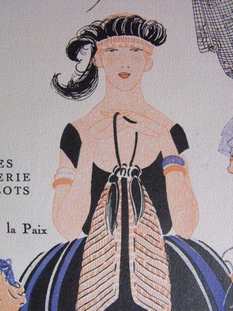 """""""Verlaine"""" Mode, lingerie, bibelot, rue de la Paix. French fashion art-déco 1920"""
