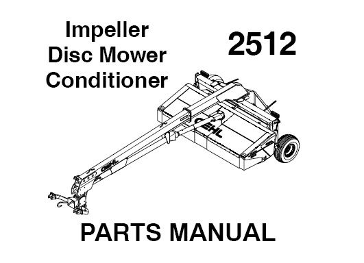Download Complete Service Parts Manual for Gehl 2512