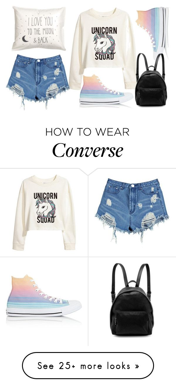 """""""Unicorn"""" by nikol-139 on Polyvore featuring H&M, Boohoo, Converse and STELLA McCARTNEY"""