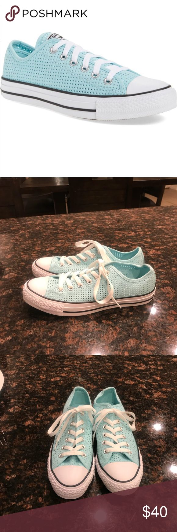 NWOT Converse All Star Ox Perforated Sneakers NWOT Converse All Star Ox Perforated Sneakers. Size 7.5. These run a bit in large so these will fit a 7.5-8. Converse Shoes Sneakers