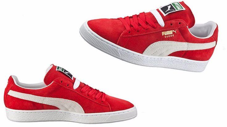 Puma Men's Suede Classic Eco high risk red-white 352634-65 #PUMA #35263465