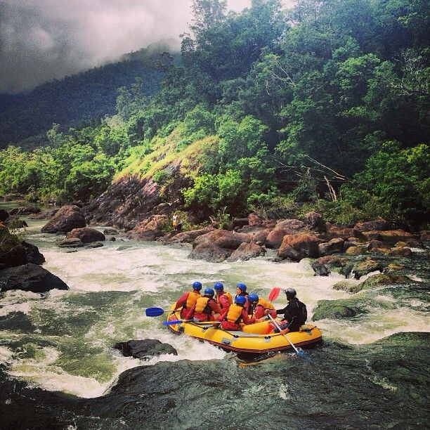 White water rafting on the Tully river, Queensland... #Australia   by beijingemily (instagram)