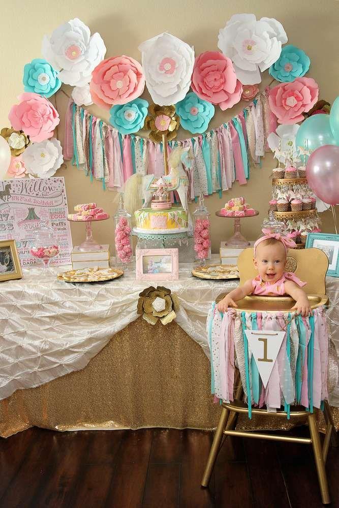 Carousel Birthday Party Ideas   Photo 1 of 17
