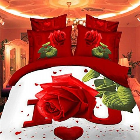Shuian®Bed Linen Sheet Bedding High Quality Fabric 4 PCS