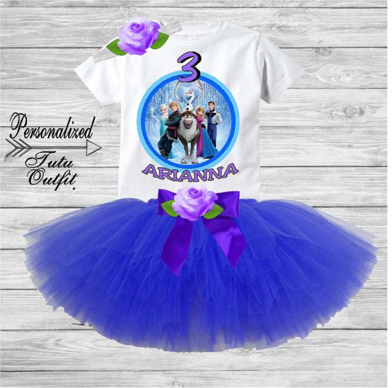 Custom Tutu Outfit Frozen Set Age 3 By Stardangle