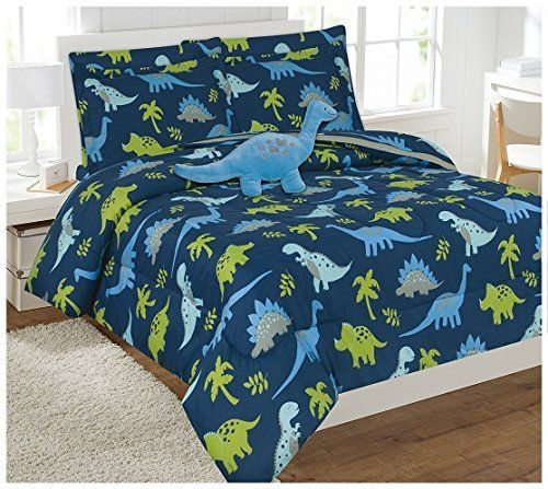 Product review for Fancy Linen Collection Dinasour Blue Light Blue Grey Green Comforter set With Furry Buddy Included # Dinosaur Blue (Full Comforter 8 Pc, Blue).  - Fancy Collection Kid Comforter sets are designed to keep you updated and fashionable in the most convenient and inexpensive way. Our comforter sets are a tremendous blend of bold and vibrant colors. They can transform a room from bleak to bright and cheery in a matter of minutes. Our comforter....  Continue rea