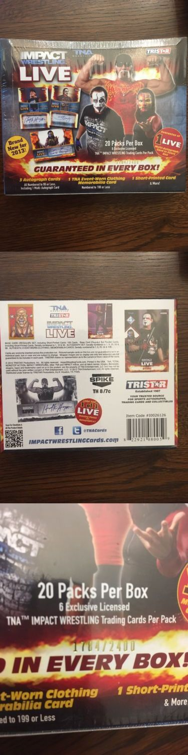 Wrestling Cards 183435: 2013 Tristar Tna Impact Wrestling Live Hobby Box -> BUY IT NOW ONLY: $95 on eBay!