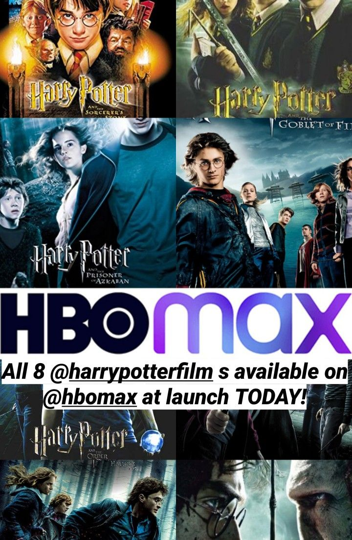 All Eight Harry Potter Films On Hbo Max Hbo Harry Potter Films Film