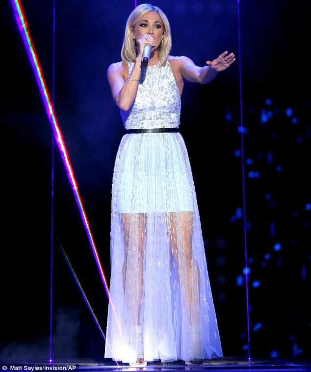 Carrie Underwood: American Idol Season 15 finale | Hit song: The Oklahoma native returned to sing returned to sing her 2014 hit Something In The Water