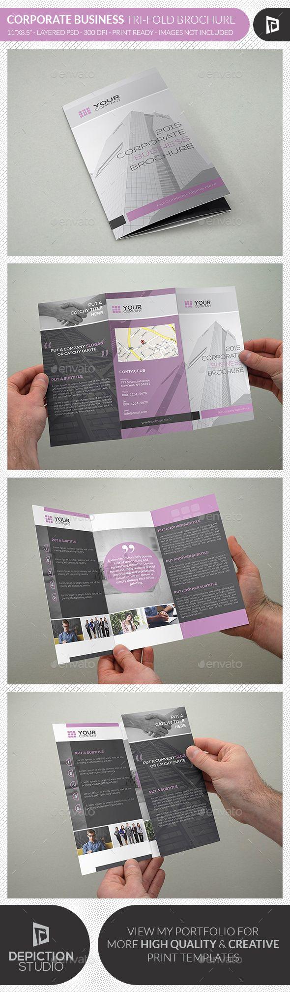 Corporate Business Tri-fold Brochure Template PSD #design Download: http://graphicriver.net/item/corporate-business-trifold-brochure/13426718?ref=ksioks