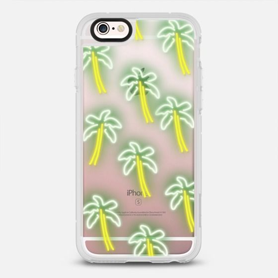 Neon Palm Trees - New Standard Case in Clear and Clear by Olga Komasinska   @casetify