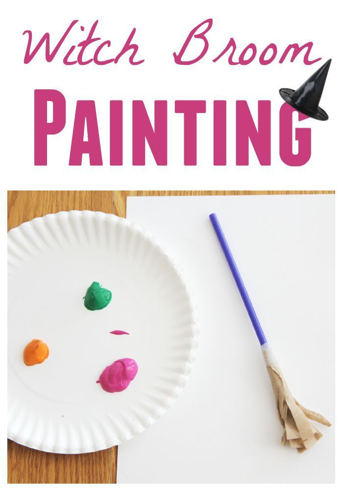 Toddler Approved!: Witch Broom Painting