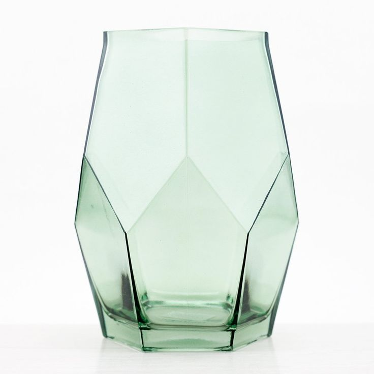 Bloomingville Green Faceted Glass Vase