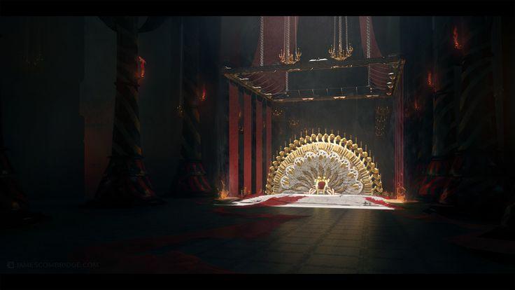 fantasy interior environment concept