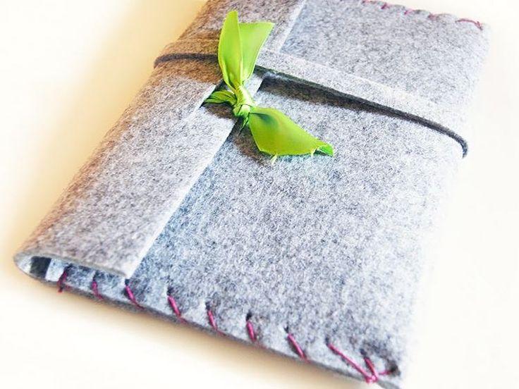 DIY-Anleitung: Tablet-Tasche aus dickem Filz nähen / tutorial: sew your own tablet bag via DaWanda.com