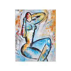 Modern schilderij van een bevallige vrouw met als titel Cerisse, van kunstenares Aleksandra. Dit kunstwerk is gemaakt met acrylverf op canvas en opgespannen op een houten frame, formaat 70 x 90 cm. Lees meer informatie over dit schilderij in onze webwinkel www.kunstvoorjou.nl via de bron hierboven.