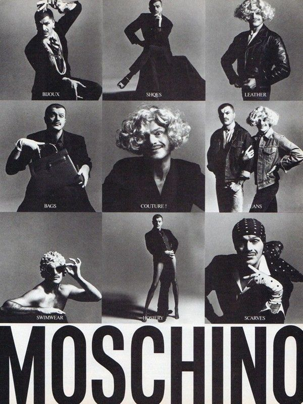 Franco Moschino stars in his own campaign