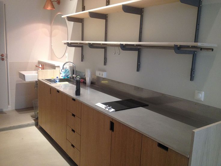 platsbyggd kök  plywood moderskeppet stockholm
