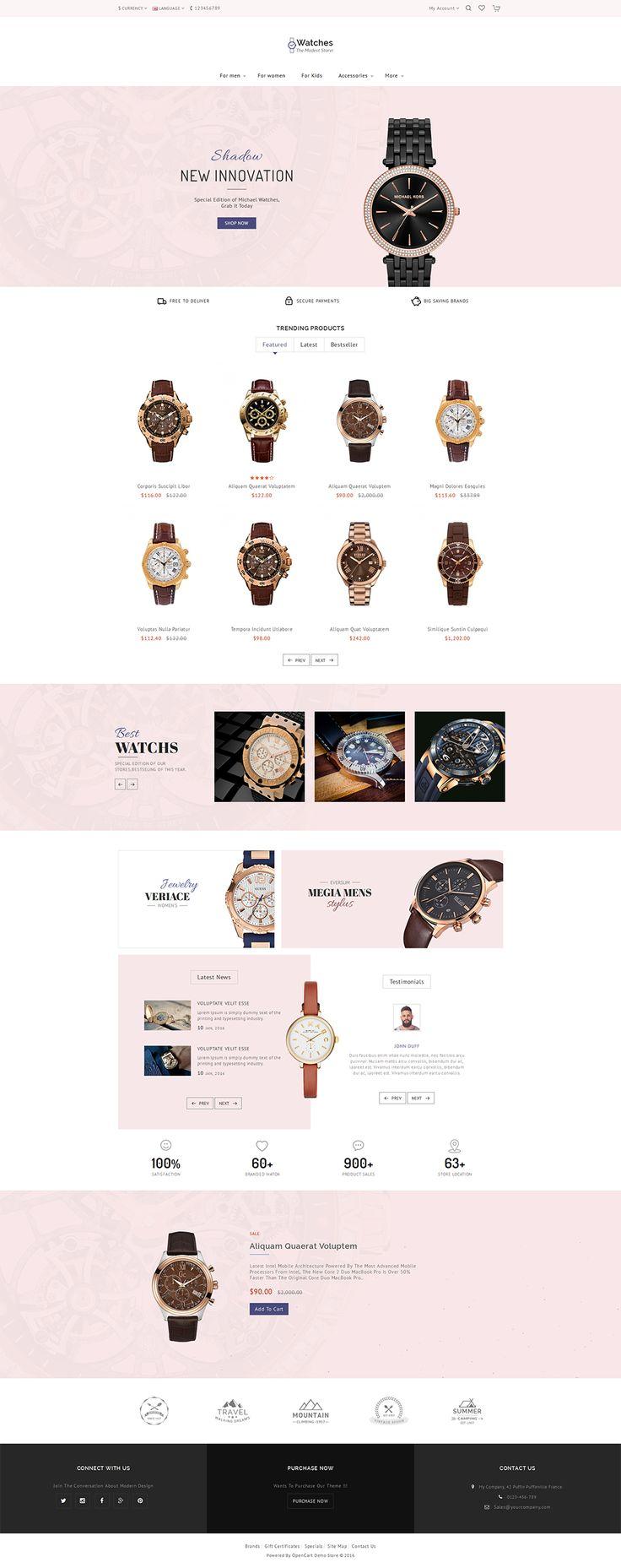 #Watch #Jewelry #eCommerce #Modern - #Opencart Multi Purpose #Responsive #Theme