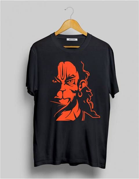 822b3e6e Angry Hanuman Printed Graphic T-Shirt online at TrendsMod for men.  Exclusive store to buy the most happening design in trend.
