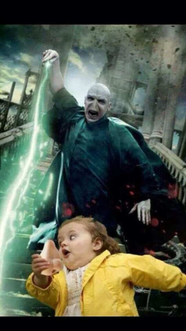 Got your nose Voldemort! Lol