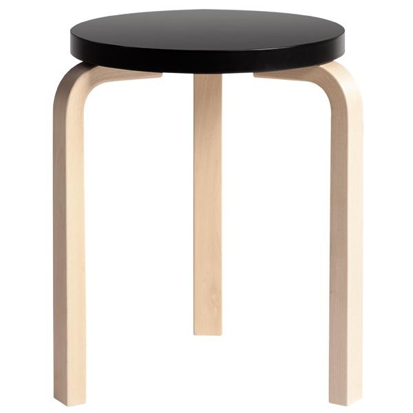 Aalto stool 60 by Alvar Aalto.