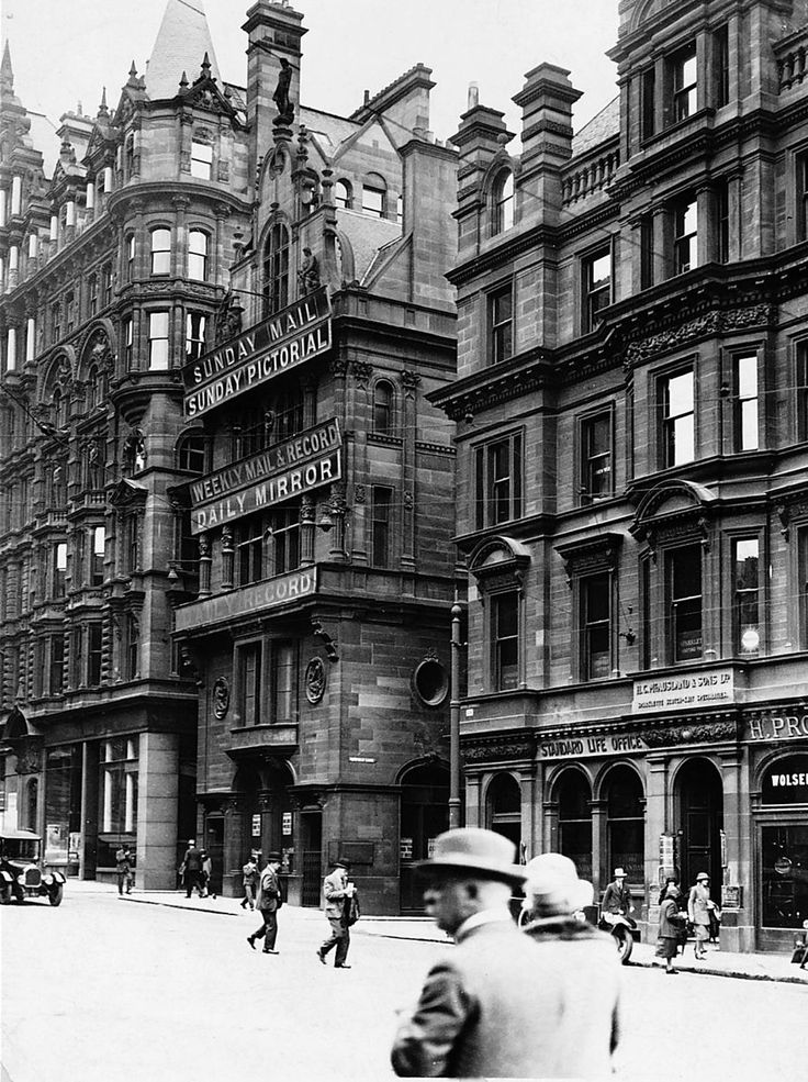 The Daily Record Bldg in Renfield Ln., Glasgow in the early 20th C. from: Charles Rennie ...