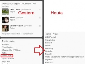 Saturday #Bettina #Wulff was in the Trend Tweets, since Sunday anymore....