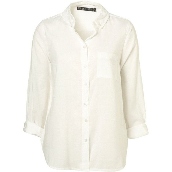 Petite White Oxford Shirt (210 PEN) ❤ liked on Polyvore featuring tops, blouses, shirts, haut, women, white oxford shirt, petite tops, petite white shirt, shirts & blouses and white top