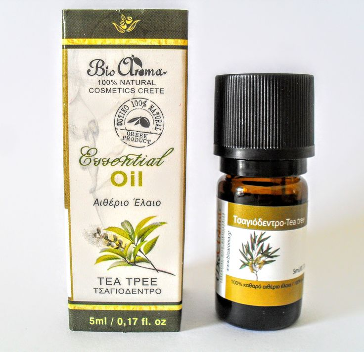 Tea tree essential oil, for aromatherapy at home.