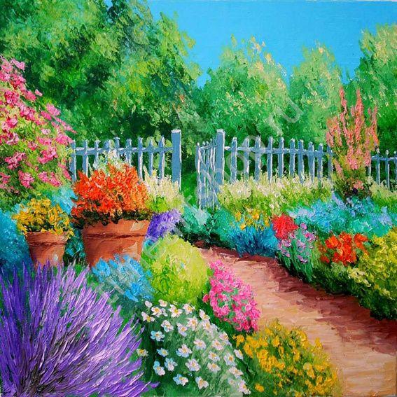 Цветочное изобилие, картина раскраска по номерам, размер ...