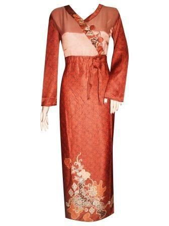 Gamis Batik Semisutra Motif  Pola