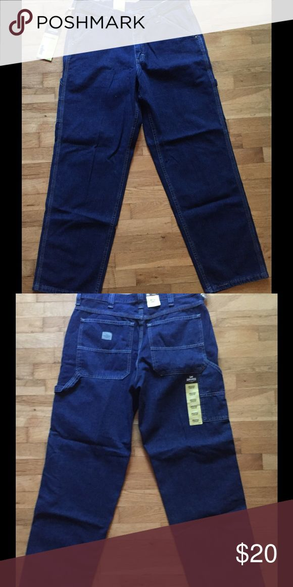 Lee Dungarees Carpenter Jeans NWT Brand new never worn Men's Lee Carpenter pants, still has tags, size  36 waist, 32 length, per tag fits just below waist and straight leg. Blue denim. Selling for my husband who never wore them. Please no low-balls, no trades, reasonable offers considered. Lee Jeans Straight